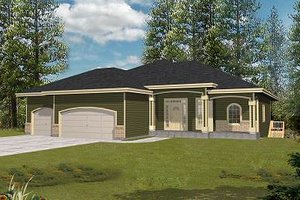 Ranch Exterior - Front Elevation Plan #112-137