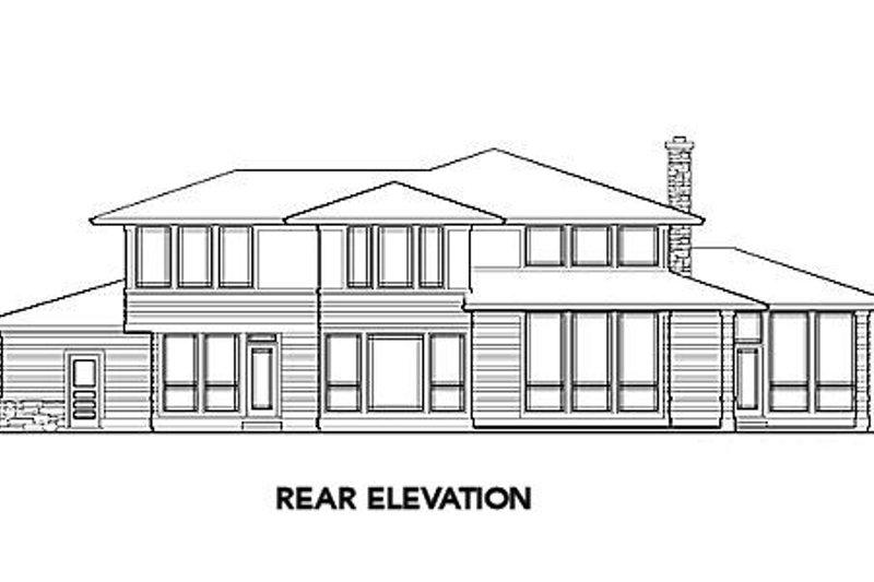 Mediterranean Exterior - Rear Elevation Plan #48-146 - Houseplans.com
