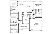 Ranch Style House Plan - 3 Beds 2 Baths 1888 Sq/Ft Plan #124-1001 Floor Plan - Main Floor Plan