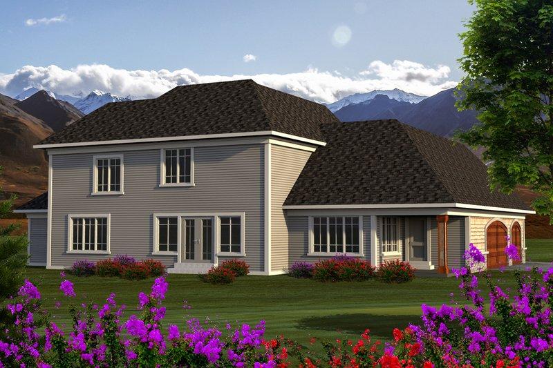 Traditional Exterior - Rear Elevation Plan #70-1182 - Houseplans.com