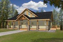 Home Plan - Bungalow Exterior - Front Elevation Plan #117-542