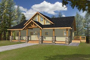 Bungalow Exterior - Front Elevation Plan #117-542
