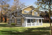 Cottage Style House Plan - 3 Beds 2.5 Baths 2044 Sq/Ft Plan #100-402 Exterior - Front Elevation