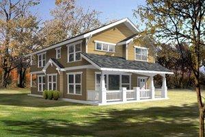 Cottage Exterior - Front Elevation Plan #100-402