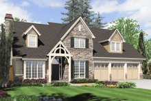 Dream House Plan - Front View - 2800 square foot Craftsman home