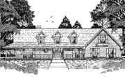 Country Style House Plan - 3 Beds 2 Baths 2075 Sq/Ft Plan #42-178 Exterior - Front Elevation