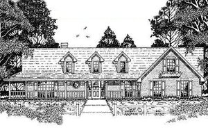 Country Exterior - Front Elevation Plan #42-178