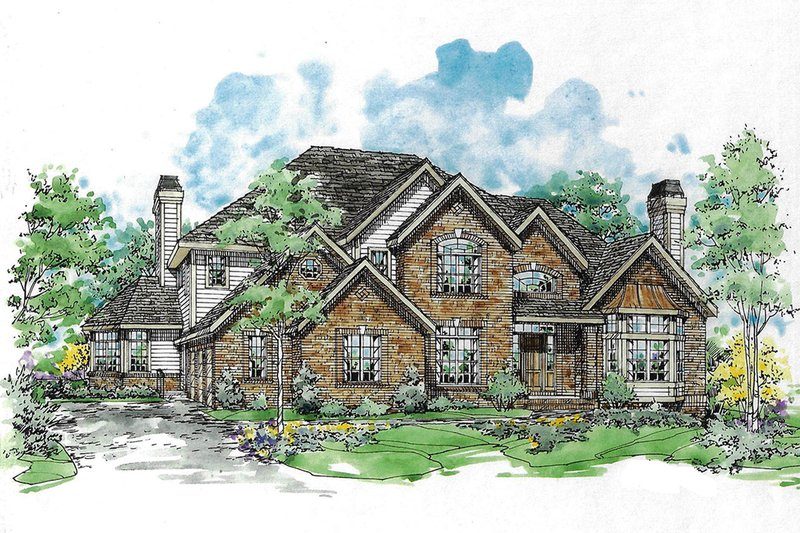 Traditional Exterior - Front Elevation Plan #970-12