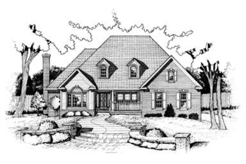Traditional Exterior - Front Elevation Plan #20-1083