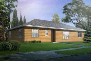 Ranch Exterior - Front Elevation Plan #1-1286