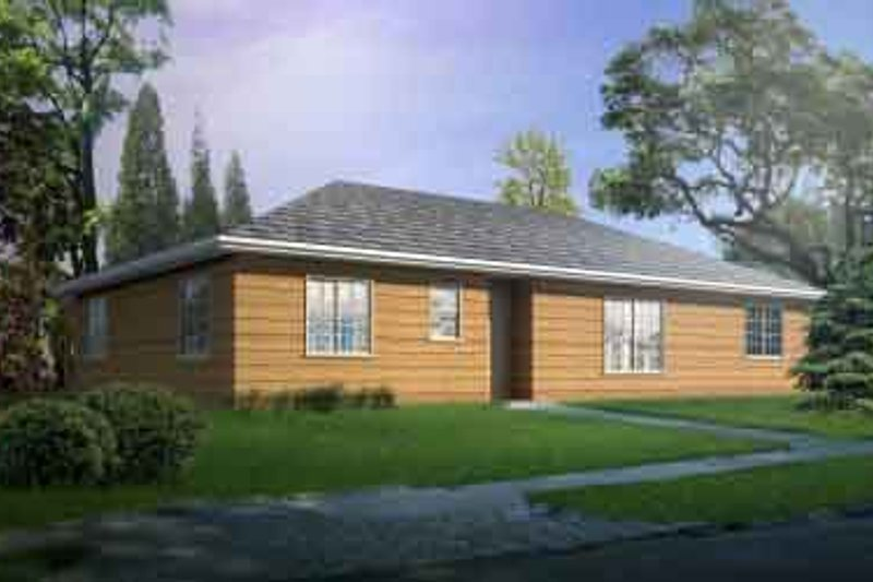 Ranch Style House Plan - 3 Beds 2 Baths 1553 Sq/Ft Plan #1-1286 Exterior - Front Elevation