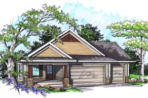 Ranch Exterior - Front Elevation Plan #70-1019