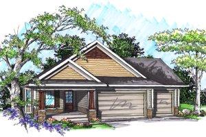House Plan Design - Ranch Exterior - Front Elevation Plan #70-1019