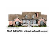 Traditional Style House Plan - 3 Beds 2.5 Baths 2998 Sq/Ft Plan #429-41 Exterior - Rear Elevation
