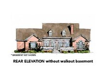 Traditional Exterior - Rear Elevation Plan #429-41