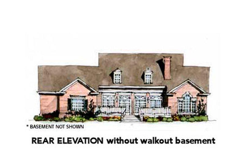 Traditional Exterior - Rear Elevation Plan #429-41 - Houseplans.com