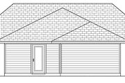Cottage Style House Plan - 3 Beds 2 Baths 1192 Sq/Ft Plan #84-446 Exterior - Rear Elevation