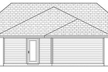 Cottage Exterior - Rear Elevation Plan #84-446