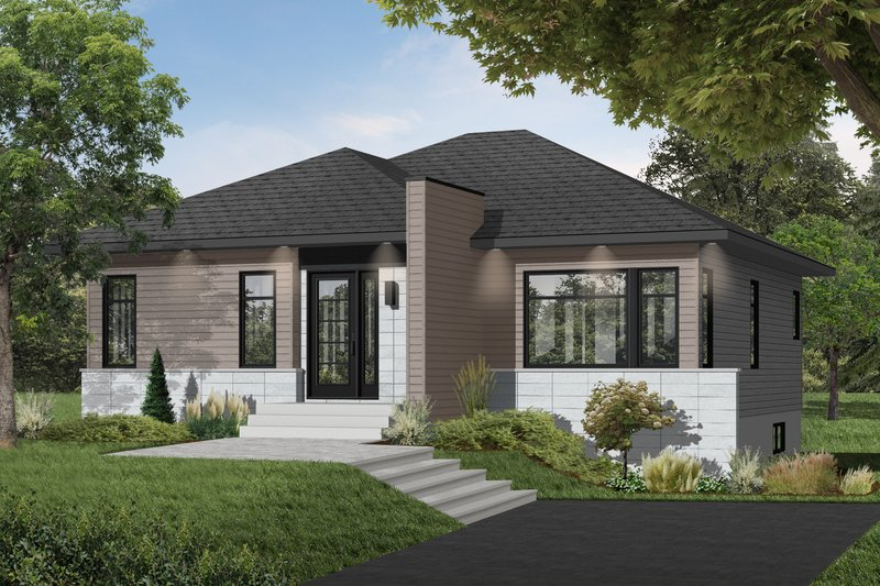 Architectural House Design - Contemporary Exterior - Front Elevation Plan #23-2571