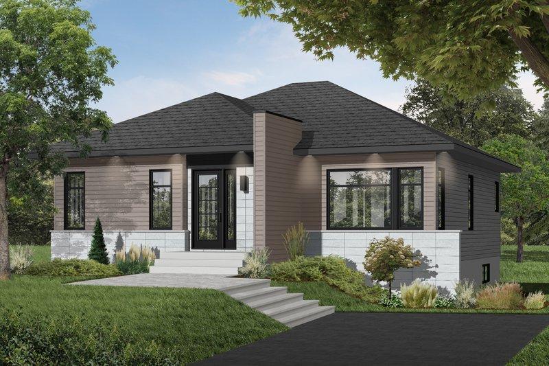 House Plan Design - Contemporary Exterior - Front Elevation Plan #23-2571