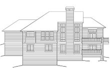 Home Plan - Traditional Exterior - Rear Elevation Plan #48-419