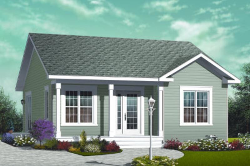Cottage Exterior - Front Elevation Plan #23-2198