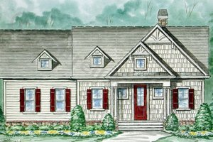 Country Exterior - Front Elevation Plan #54-106
