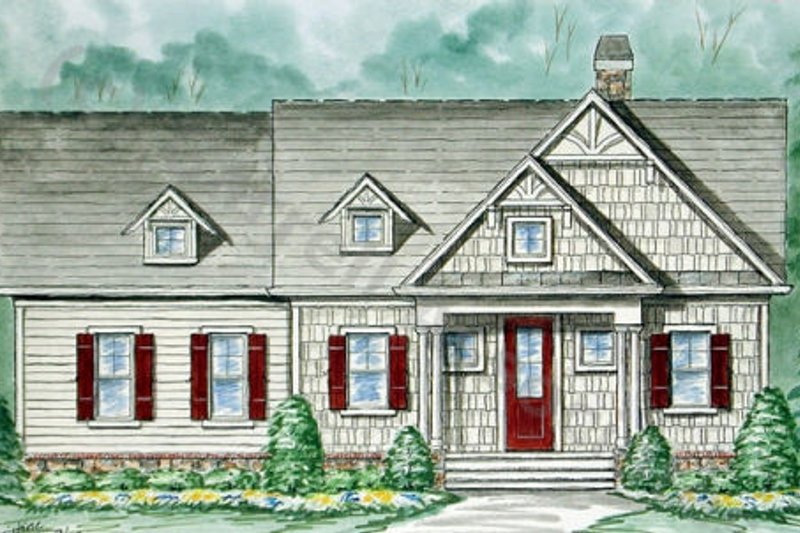 Country Exterior - Front Elevation Plan #54-106 - Houseplans.com