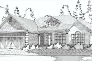 Traditional Exterior - Front Elevation Plan #63-191