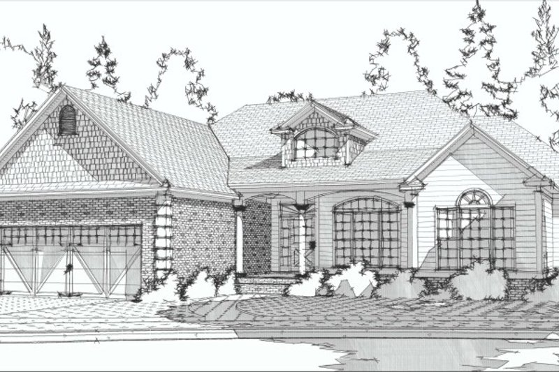 Traditional Style House Plan - 3 Beds 2 Baths 1897 Sq/Ft Plan #63-191 Exterior - Front Elevation