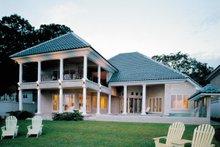 House Plan Design - Mediterranean Exterior - Rear Elevation Plan #930-86