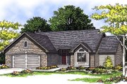Traditional Style House Plan - 3 Beds 2 Baths 1603 Sq/Ft Plan #70-156 Exterior - Front Elevation