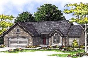 Traditional Exterior - Front Elevation Plan #70-156