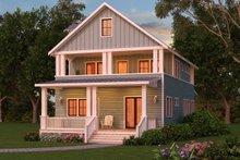 Craftsman Exterior - Rear Elevation Plan #888-12
