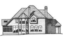 House Plan Design - European Exterior - Rear Elevation Plan #20-1166