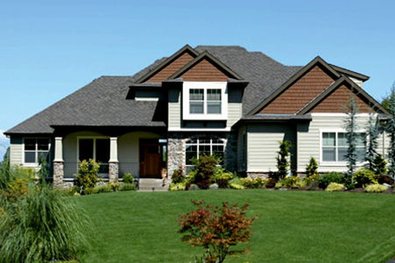 Craftsman Style House Plan - 3 Beds 2.5 Baths 2986 Sq/Ft Plan #48-116 Exterior - Front Elevation