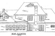 Traditional Style House Plan - 4 Beds 3.5 Baths 3072 Sq/Ft Plan #34-120 Exterior - Rear Elevation