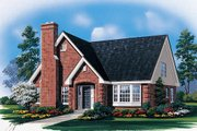 Traditional Style House Plan - 3 Beds 2.5 Baths 1922 Sq/Ft Plan #57-437 Exterior - Front Elevation