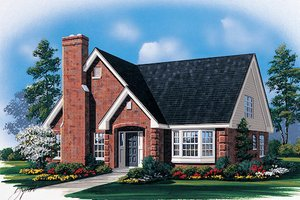 Traditional Exterior - Front Elevation Plan #57-437