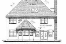 House Blueprint - European Exterior - Rear Elevation Plan #18-204
