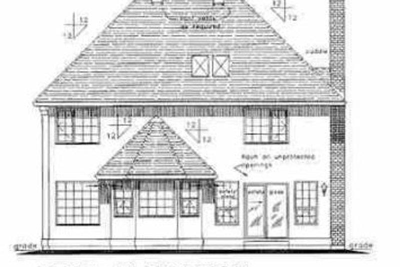 European Exterior - Rear Elevation Plan #18-204 - Houseplans.com