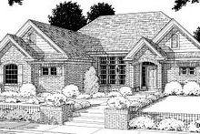 Home Plan Design - Traditional Exterior - Front Elevation Plan #20-190