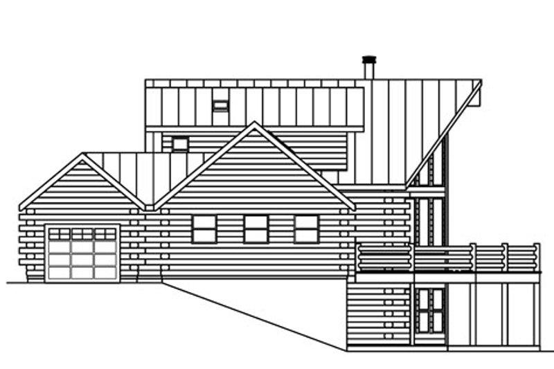 Log Exterior - Other Elevation Plan #124-766 - Houseplans.com