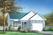 Traditional Style House Plan - 2 Beds 1 Baths 1026 Sq/Ft Plan #25-1169 Exterior - Front Elevation