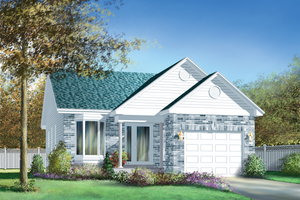 Traditional Exterior - Front Elevation Plan #25-1169