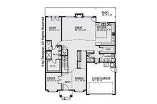 Contemporary Floor Plan - Main Floor Plan Plan #1066-12