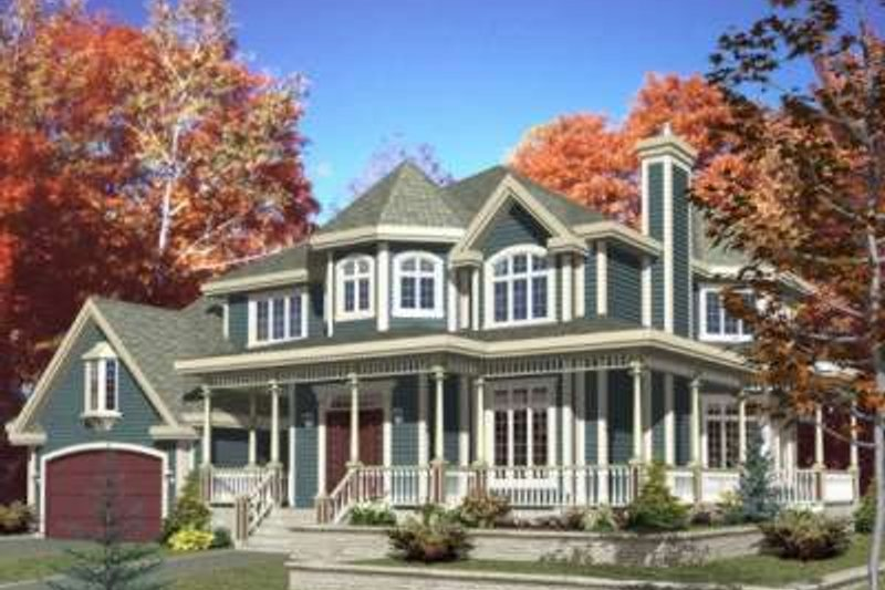 Craftsman Style House Plan - 4 Beds 2.5 Baths 2846 Sq/Ft Plan #138-111 Exterior - Front Elevation