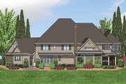 European Style House Plan - 5 Beds 5.5 Baths 6020 Sq/Ft Plan #48-365 Exterior - Rear Elevation