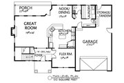 Traditional Style House Plan - 3 Beds 2.5 Baths 3092 Sq/Ft Plan #133-108 Floor Plan - Main Floor Plan