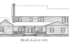 House Plan Design - Country Exterior - Rear Elevation Plan #11-226
